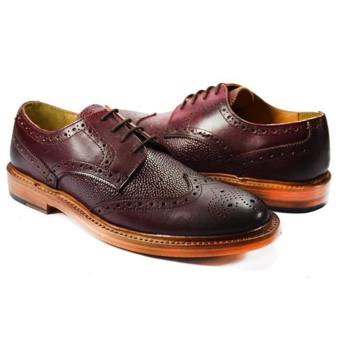 Chaussures Oxford Dress. Bourgogne . 100% cuir E69UO Taille-43 Dhp8i