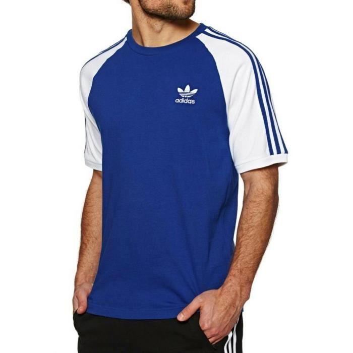 new arrival 0a359 7e311 Adidas - Adidas Originals 3-Stripes Homme T-Shirt Bleu