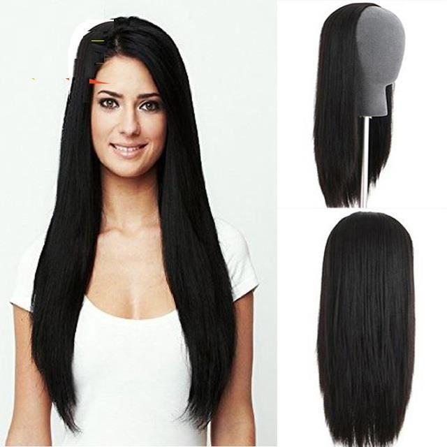 1-2 Lace Wig Perruque Cheveux Naturel 100