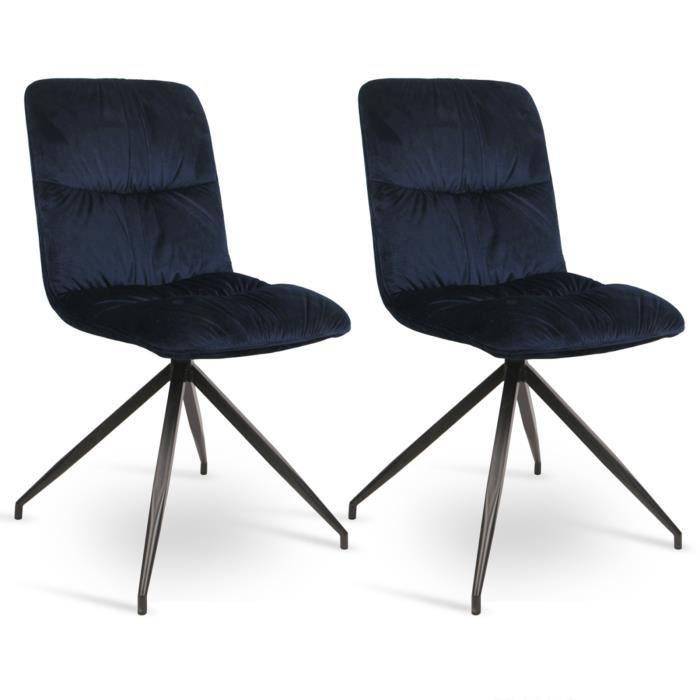 2 chaise De À Woltu Chaise Manger X Velour Cuisine Salle En xdoCBe