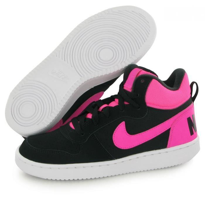Nike Court Borough Mid noir, baskets mode mixte