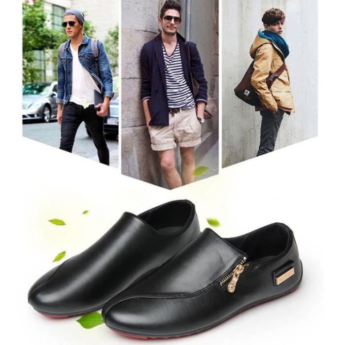 Moccasins homme 2017 nouvelle marque de luxe chaussure Grande Taille Qualité Supérieure homme Moccasin cuir Confortable Durable NPbKV3ZQBq