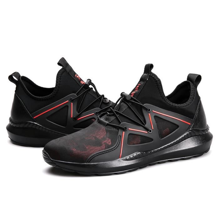 Baskets Homme Chaussure hiver Jogging Sport Ultra Léger Respirant Chaussures BMMJ-XZ228Rouge43 Q1B1uk7g