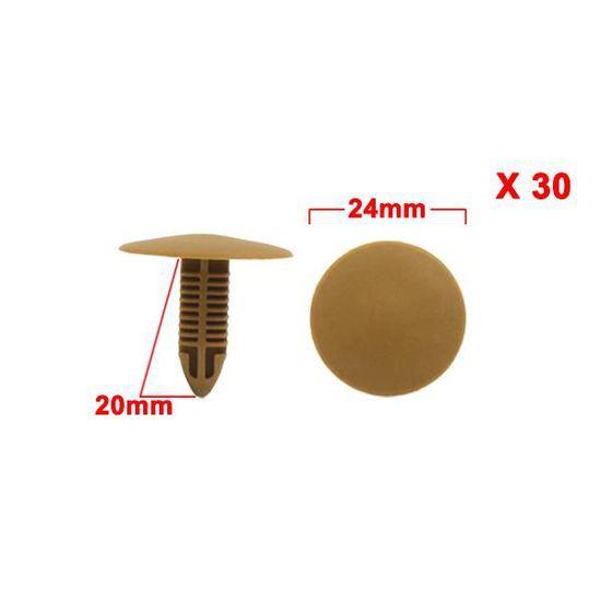Sourcingmap/® 50pcs 7mm x 25mm x 28mm Panneau Porte Voiture Habillage en Plastique Beige Rivets Agrafes retenue