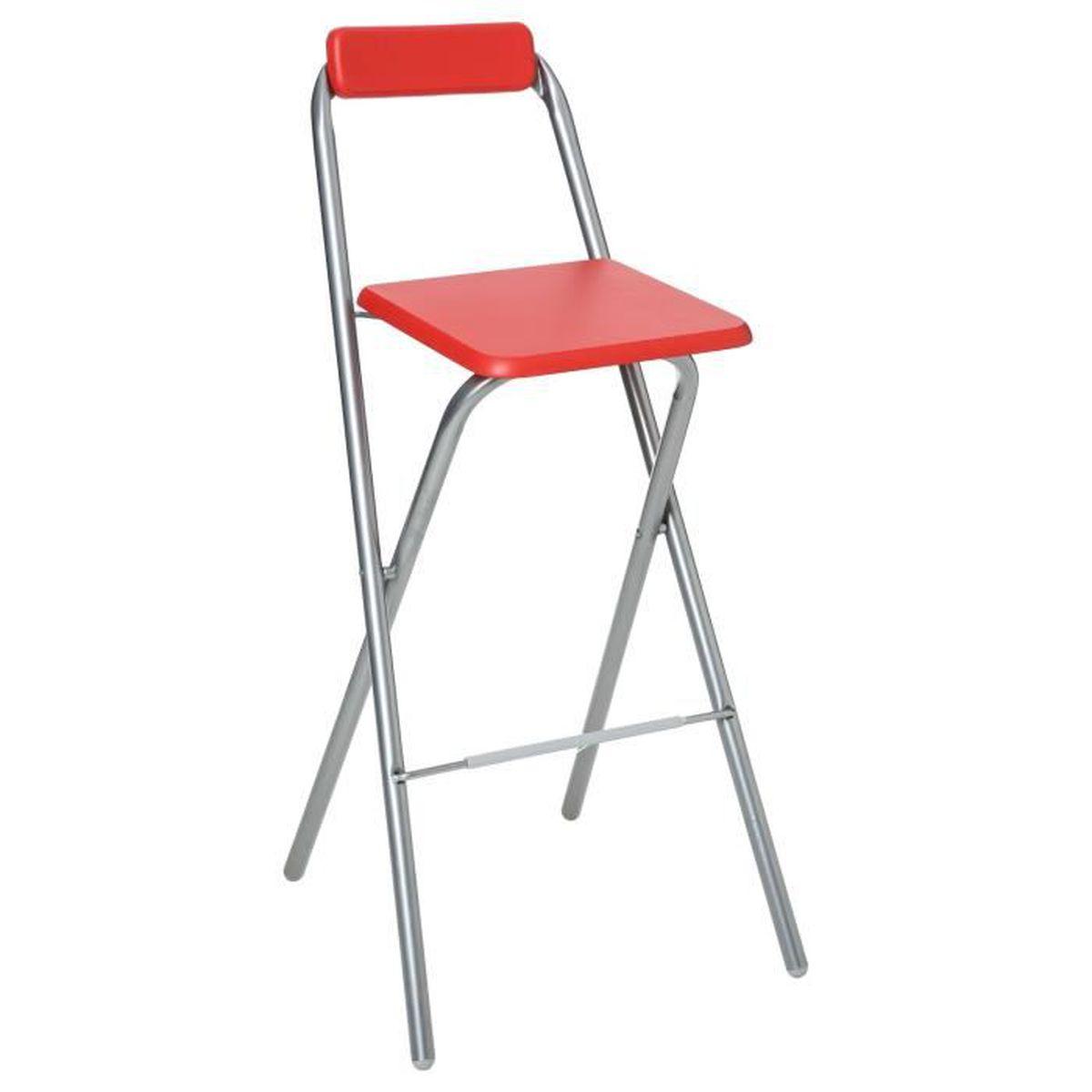 chaise de bar pliante louna rouge achat vente. Black Bedroom Furniture Sets. Home Design Ideas