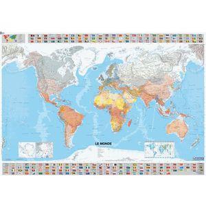 Carte du monde plastifiee   Achat / Vente pas cher