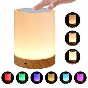 LAMPE A POSER Veilleuse Bébé, Lampe de Chevet LED Tactile Sensit