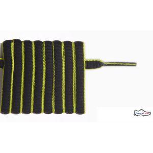 LACET  lacet ovale noir vert fluo 130 cm