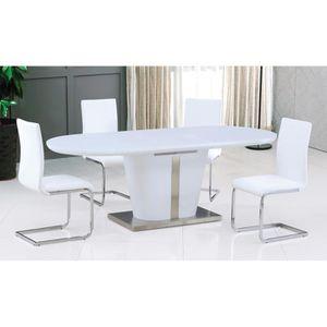 Table salle a manger avec rallonge achat vente pas cher - Salle a manger blanc laque pas cher ...