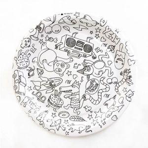 LIVRE DE COLORIAGE Assiettes en Carton à Colorier (x8) - OMY