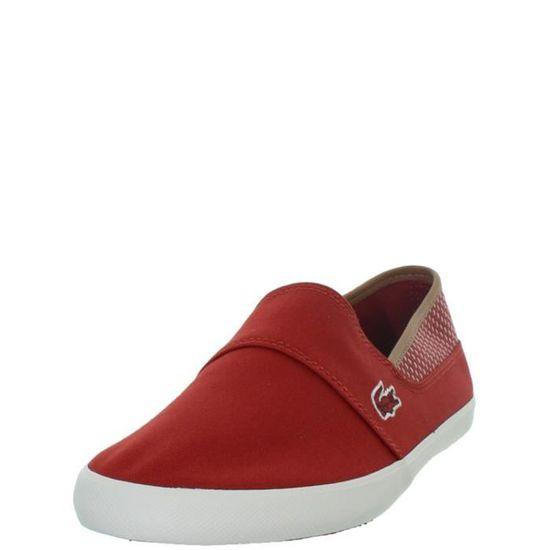 Chaussures en toile homme Lacoste rouge, AchatVente de
