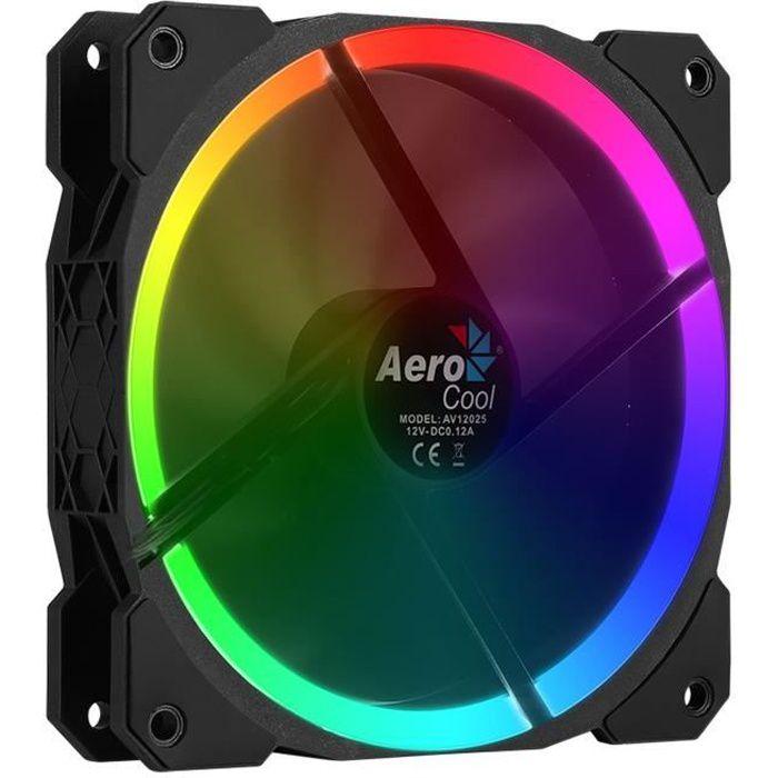 AEROCOOL Ventilateur pour boitier PC Orbit RGB - 120 mm