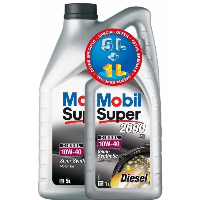 Huile MOBIL S2000 10W40 5+1L Diesel gratuit