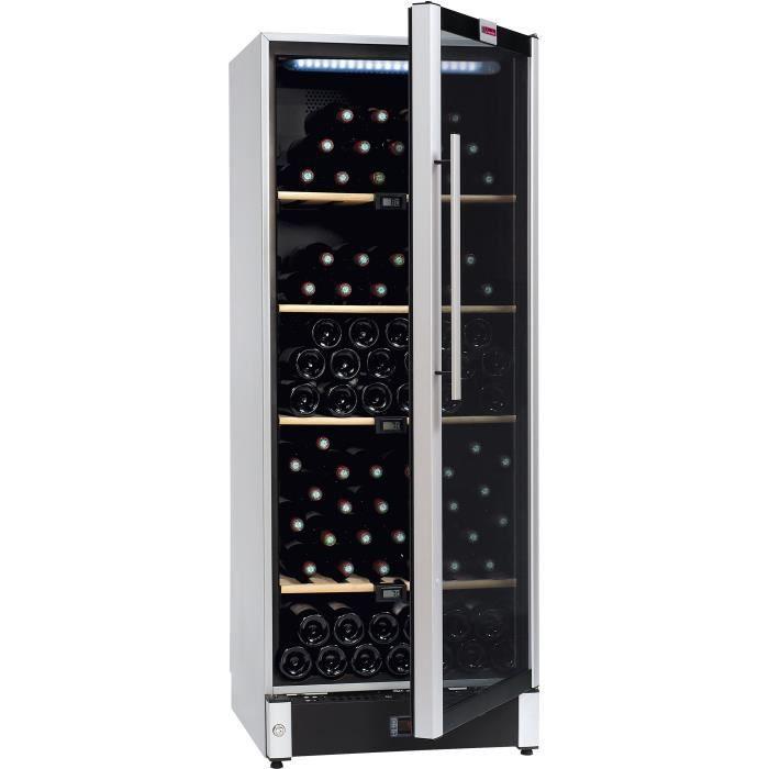 Vieillissement-160 bouteilles-Pose libre-Classe B-L 59,5 x H 155 cm-Eclairage intérieur LEDCAVE A VIN