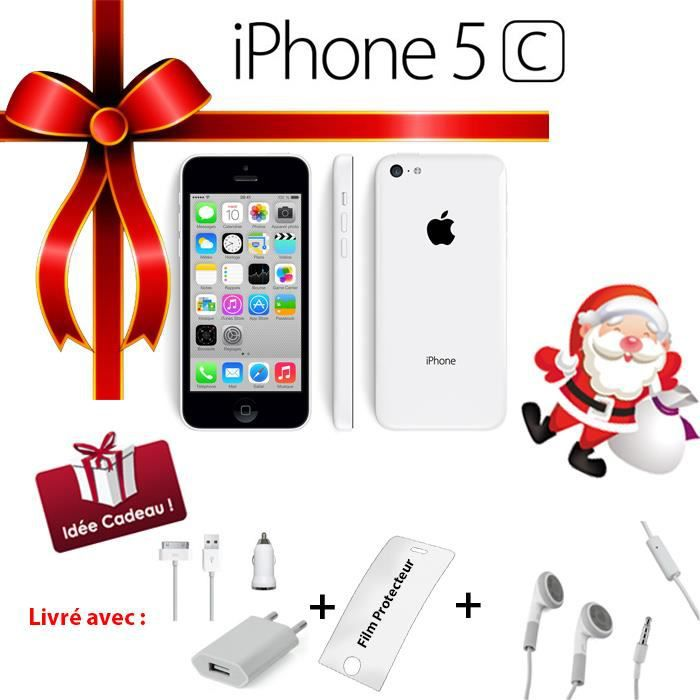 apple iphone 5c blanc 16go pack ecouteurs achat. Black Bedroom Furniture Sets. Home Design Ideas
