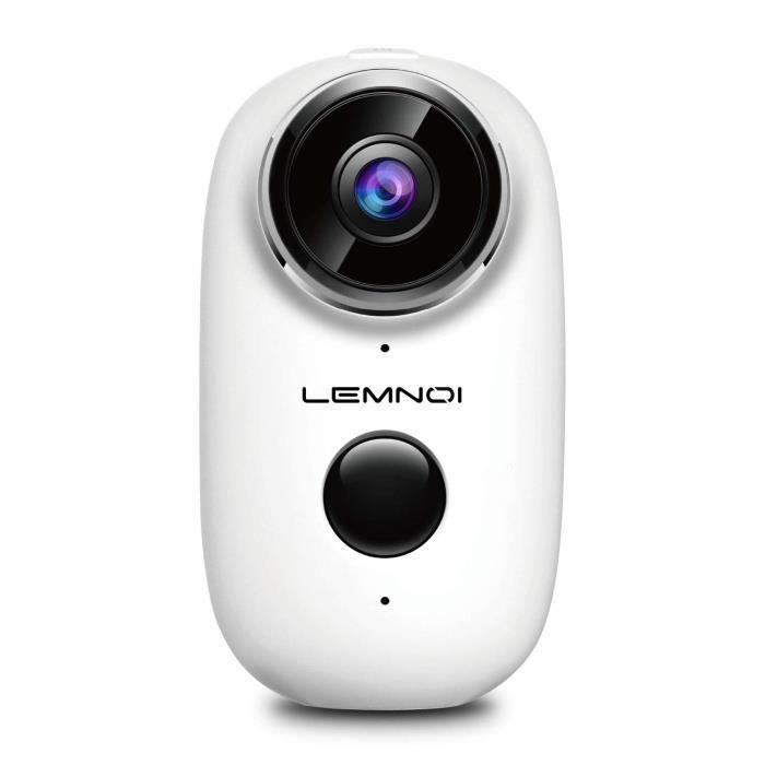 e87ee2277eca5 Caméra de Surveillance Batterie Rechargeable, 720P Caméra IP WiFi extérieure/intérieure  sans Fil détection de Mouvement PIR