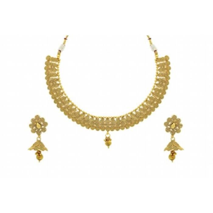 Belle Golden Pearls Antique Collier Femme De Angns595 Set J876Q
