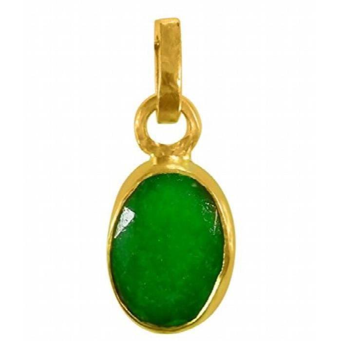 Cultivé Emerald - Panna Pendentif pierres précieuses des femmes (Panch Dhaatu) de 4,25 Ratti EPCTG