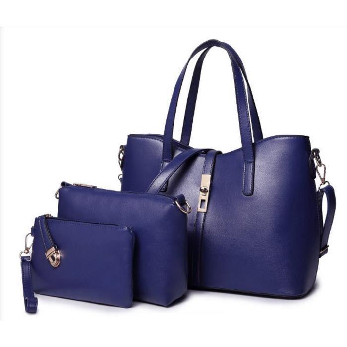 Élégant sac à main 3 pièces fourre-tout Sacs à bandoulière Messenger Bag Set WTDMJ