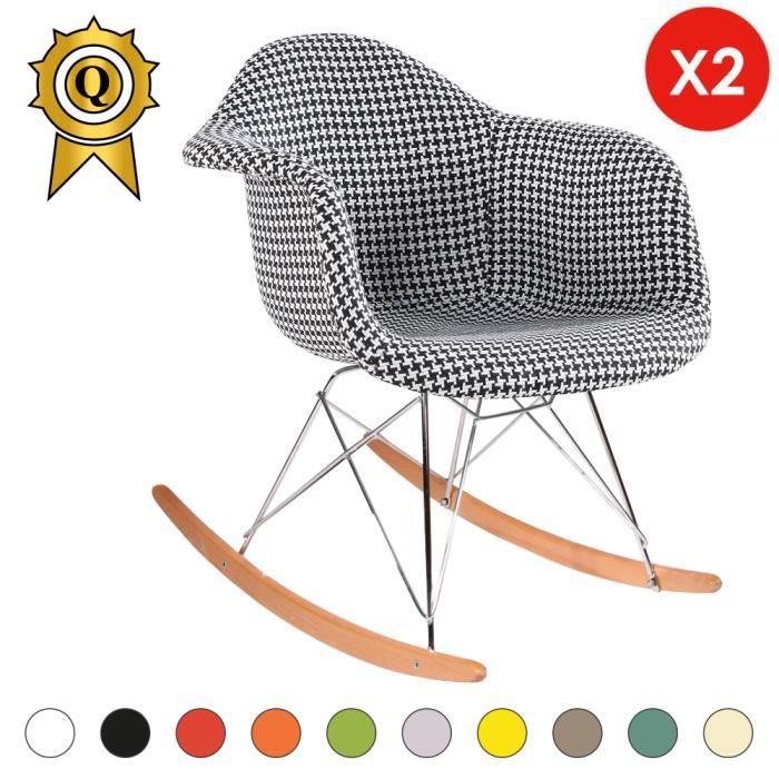 Chair x Pied Clair 48 Pieds 2 Bascule hauteur cm Mobistyl® Fauteuil à Assise de Bois Poule Rocking l13KcuFJ5T