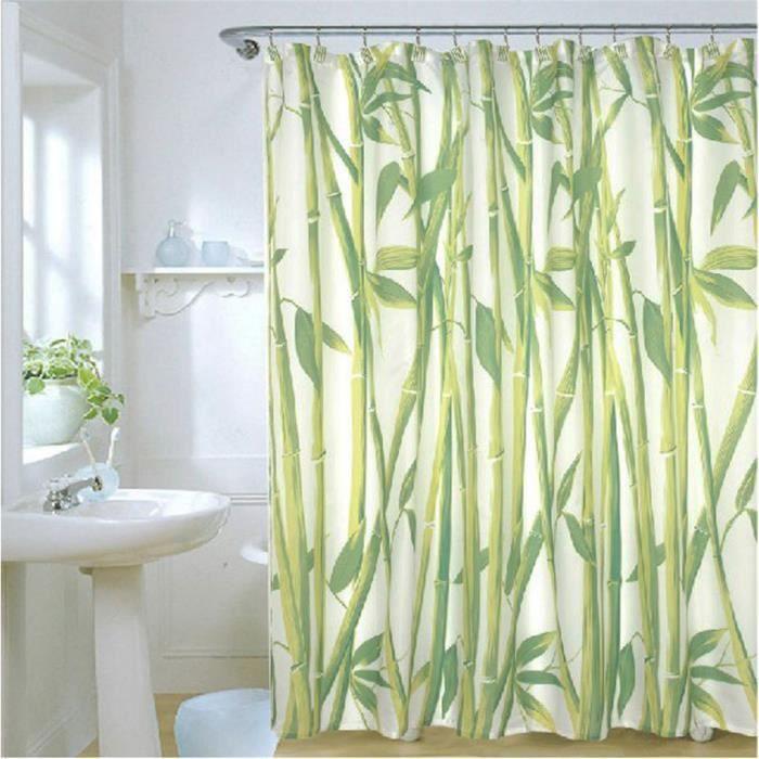 rideau de douche textile bambou 2. Black Bedroom Furniture Sets. Home Design Ideas