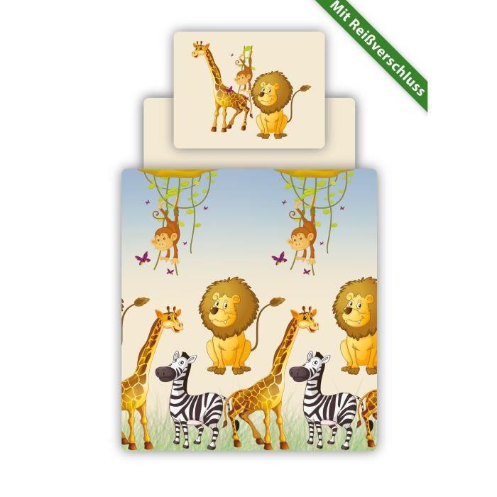 linge de lit safari Linge de lit parrure motif safari   Achat / Vente parure de drap  linge de lit safari