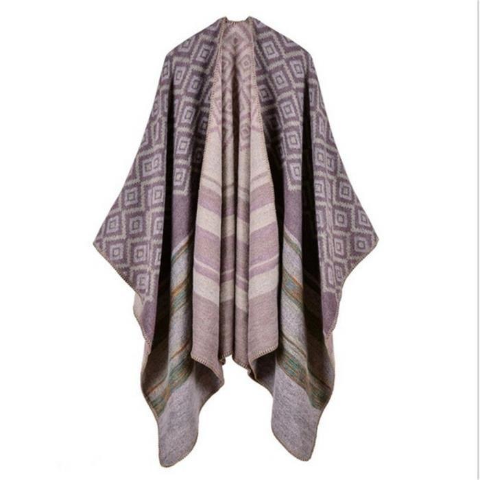 Femme Poncho Manteau veste Cape manteau écharpe Poncho Poncho Chale Cape  Femme Poncho Cardigan 211251c29e5