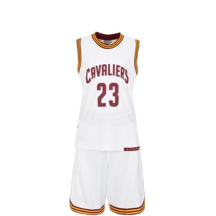 watch f4977 521fc Maillot et Short Junior ADIDAS NBA Cleveland Cavaliers Lebron James.  ENSEMBLE DE ...