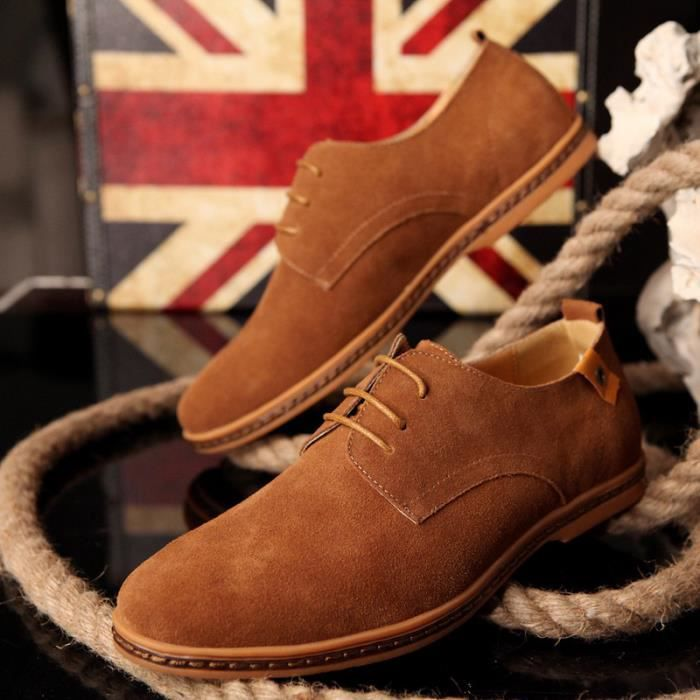 Chaussures chaussures pour hommes en daim chaus...