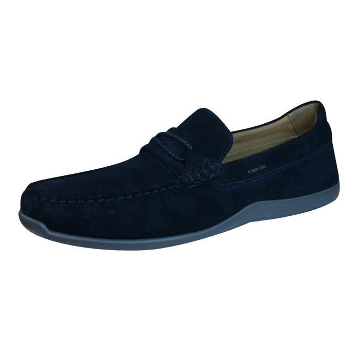 Geox U Xense Moc C Hommes suede Chaussures - Mocassins Blue 9 Msxz9gKm6X