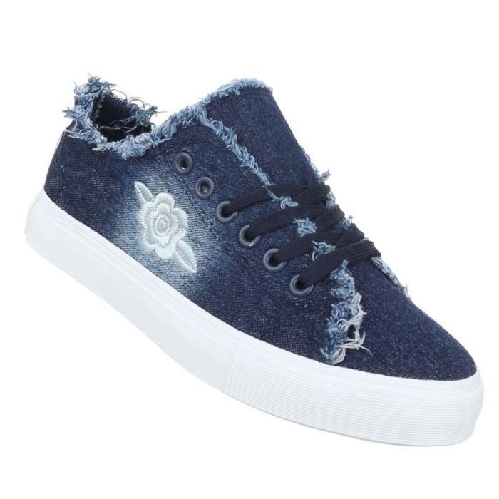 Femme chaussures de loisirs chaussures Sneakers chaussures de sportbleu 41 3LGtg0ga