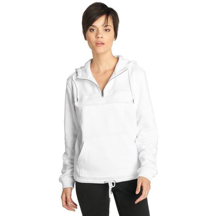 5748a08809627 Urban Classics Femme Hauts   Sweat capuche ChilloMillo Blanc Blanc ...