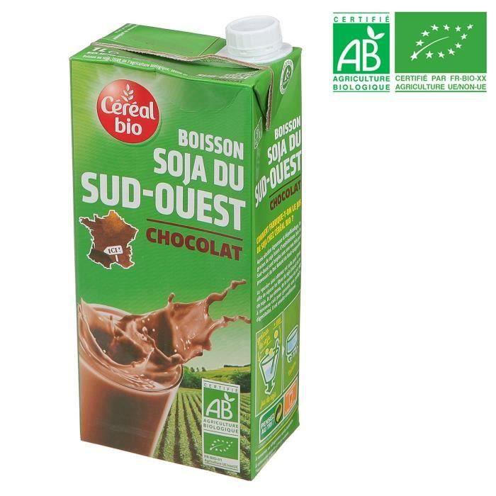 LAIT FRAIS CEREAL BIO Boisson Soja du Sud-Ouest Chocolat - 1