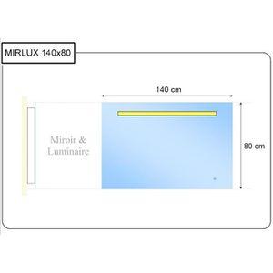 Miroir bluetooth achat vente miroir bluetooth pas cher cdiscount - Miroir salle de bain 140x80 ...