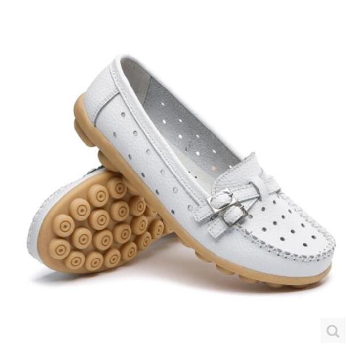 en Nouvelle Taille Loafer de Chaussure cuir Grande marque femmes Respirant femme 2017 Chaussure Mode cuir luxe Moccasins en THngYxvqw