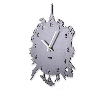 HORLOGE - PENDULE Creative Simple horloge en bois Horloge moderne Si