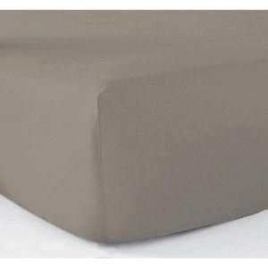 DRAP HOUSSE Drap-housse 180x200 - 100% coton 57 fils - Taupe