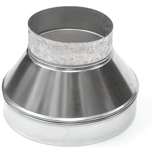 ACCESSOIRE DE GAINE Réduction de ventilation en métal Ø 200/125