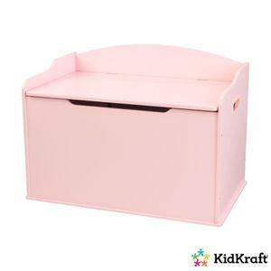 PETIT MEUBLE RANGEMENT  KIDKRAFT - Coffre à jouets en bois Austin  - rose
