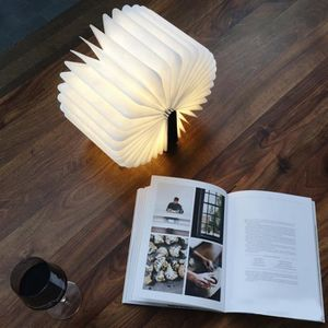 LAMPE A POSER Lampe en bois image livre rechargeable avec USB
