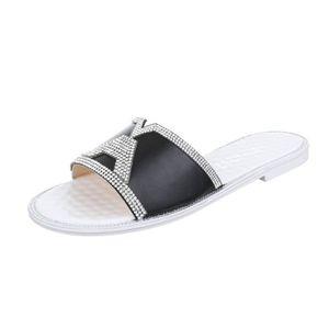 SANDALE - NU-PIEDS femme sandale chaussures mule avec Strass 500743f1224c