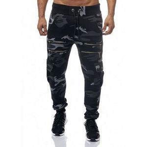 SURVÊTEMENT Jogging cargo coton camouflage noir Violento