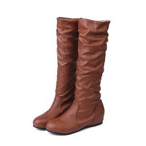 BOTTINE Bottes Femmes Haute Mode Casual Chaussures Plat en afbb52d45369
