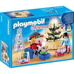 FIGURINE - PERSONNAGE PLAYMOBIL 9495 - Christmas - Famille et salon de N