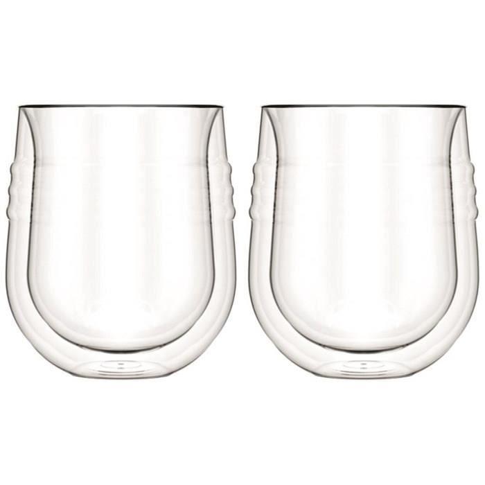 BODUM SKAL Set 2 verres à vin blanc double paroi 0,19L