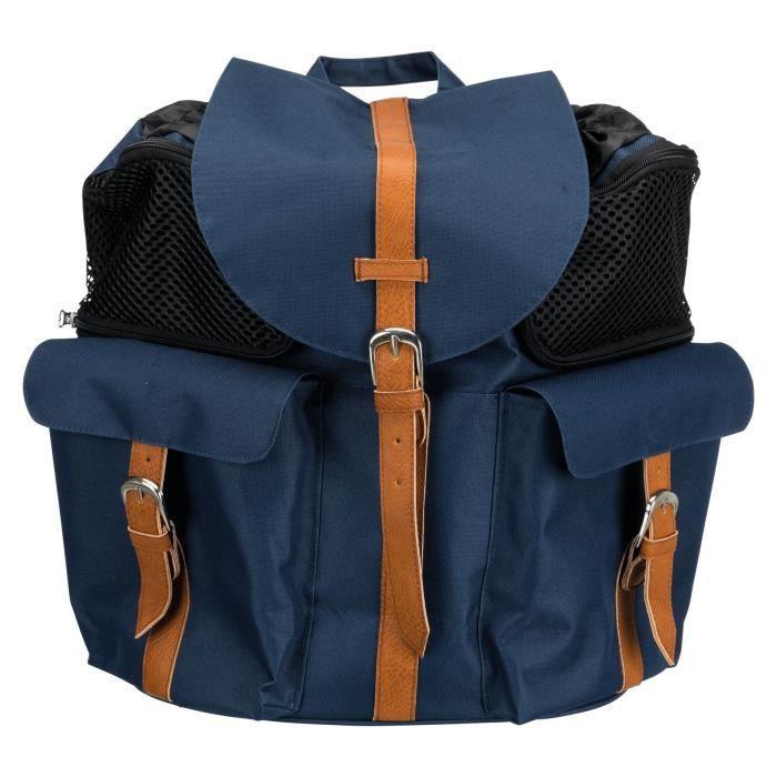 TRIXIE Sac à dos Andy - 33 × 37 × 21 cm - Bleu - Pour chien