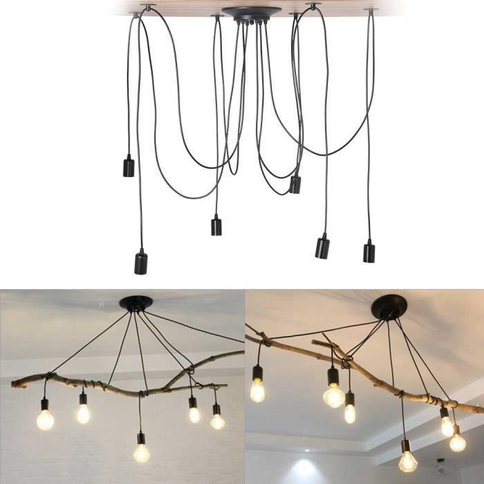 Lampe En Suspension Douilles Industriel Plafonnier 6 Lustre Design De Rétro Luminaires Plafond Led qpUSVGzM