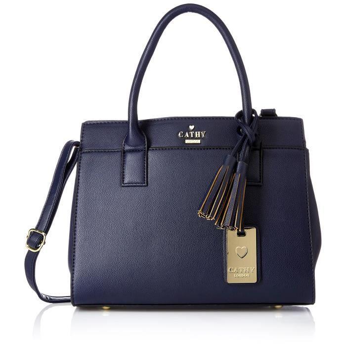 Sac à main de la femme, Material- synthetique cuir, bleu Couleur- U0F1P