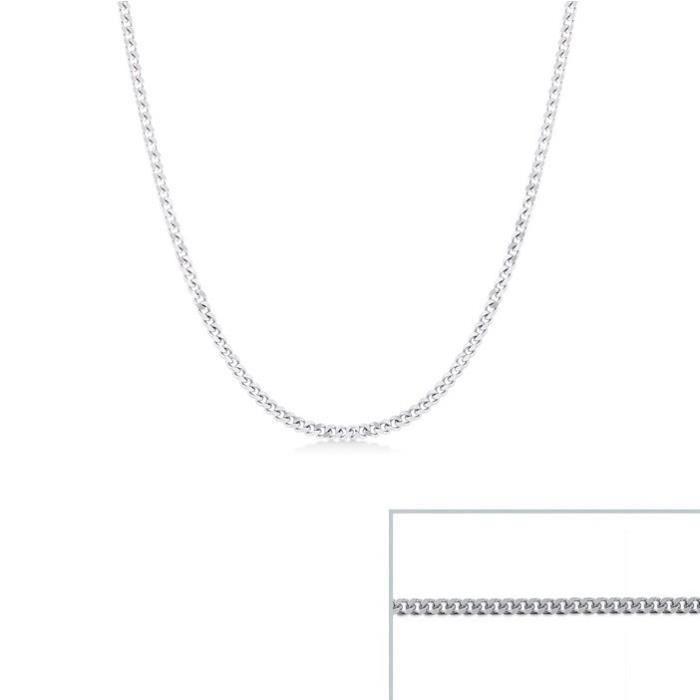 Chaine argent maille Gourmette largeur 1,7mm (45 cm)