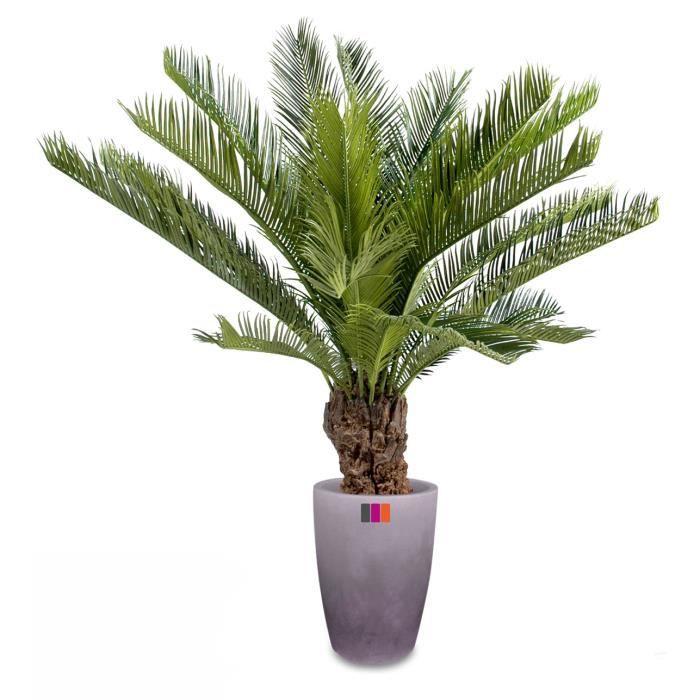Palmier artificiel cycas 90cm plante tropicale achat for Palmier artificiel moins cher